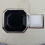 Украшения handmade. Livemaster - original item Silver ring with black onyx and white agate. Handmade.