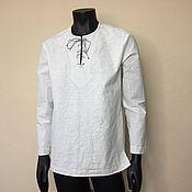 Одежда handmade. Livemaster - original item Men`s shirt s M L XL XXL / linen. Handmade.