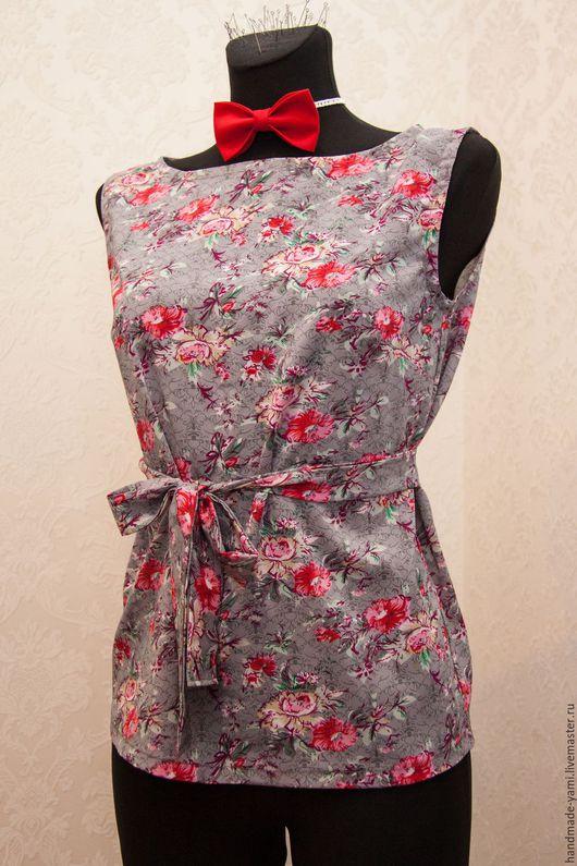 Блузки ручной работы. Ярмарка Мастеров - ручная работа. Купить Блуза. Handmade. Комбинированный, Одежда для офиса, осень2016, стиль