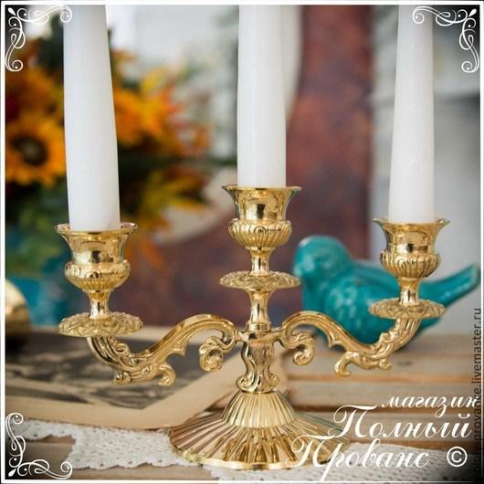 Другие виды рукоделия ручной работы. Ярмарка Мастеров - ручная работа. Купить Канделябр 2425 Барокко, на 3 свечи, золото. Handmade.