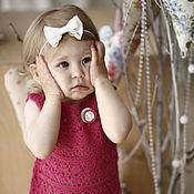 Работы для детей, ручной работы. Ярмарка Мастеров - ручная работа Платье для девочки вязаное крючком Розовые пионы. Handmade.