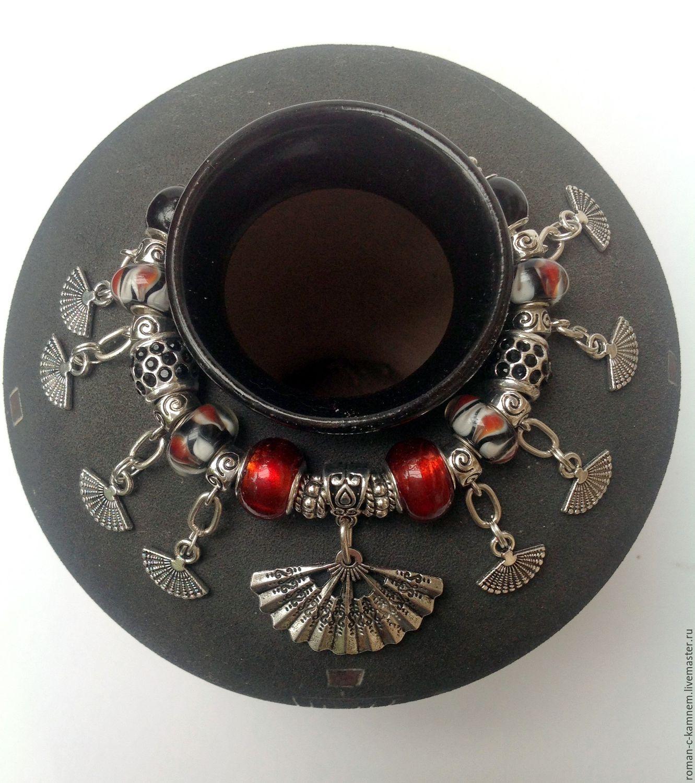 Браслет  - пандора - лэмпворк  в этническом стиле  Кончита
