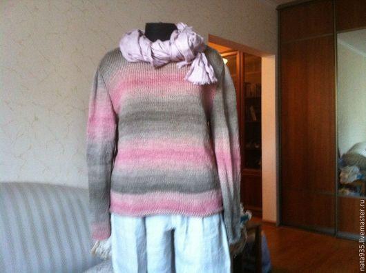 """Кофты и свитера ручной работы. Ярмарка Мастеров - ручная работа. Купить Пуловер """"Деграде"""". Handmade. Абстрактный, летняя одежда"""