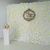 Свадебный салон ручной работы. Ярмарка Мастеров - ручная работа Цветочная стена. Handmade.