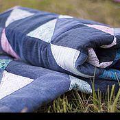 Для дома и интерьера ручной работы. Ярмарка Мастеров - ручная работа Одеяло джинсовое.. Handmade.