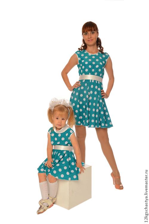 Платья ручной работы. Ярмарка Мастеров - ручная работа. Купить Платья для мамы и дочки Анастасия без подъюбников, комплект. Handmade.