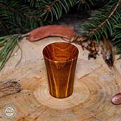 Посуда handmade. Livemaster - original item Wooden Glass Siberian Pine Shot drink a Pile of Wood #R1. Handmade.