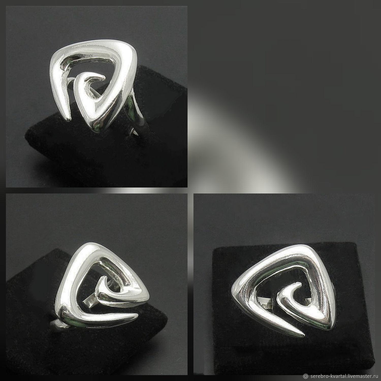 Rings spiral triangular. Silver 925 sample, Rings, Turin,  Фото №1