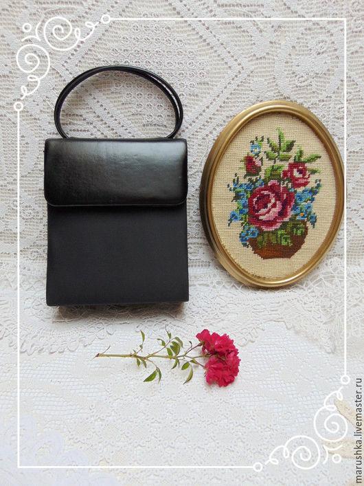 Винтажные сумки и кошельки. Ярмарка Мастеров - ручная работа. Купить Милая винтажная сумочка, Италия, 80-е. Handmade. Черный