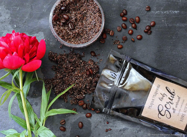 Сахарно-кофейный скраб для тела гидрофильный, Скрабы, Ульяновск, Фото №1