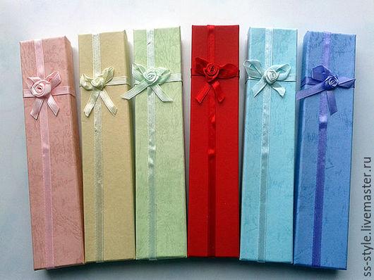 Упаковка ручной работы. Ярмарка Мастеров - ручная работа. Купить Подарочные коробочки для браслетов и кулонов. Handmade. Розовый, подарочная коробочка
