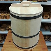 Для дома и интерьера handmade. Livemaster - original item The barrel is made of cedar for pickling 50-60 liters. the water barrel. Handmade.
