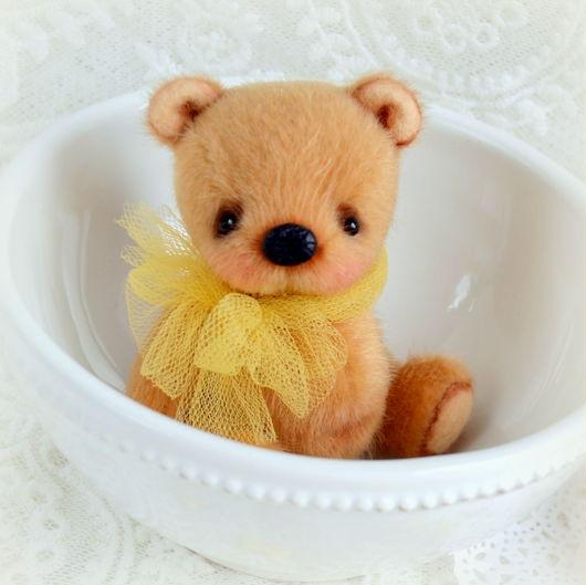 Мишки Тедди ручной работы. Ярмарка Мастеров - ручная работа. Купить Найси ( 7 см). Handmade. Коричневый, макаруны