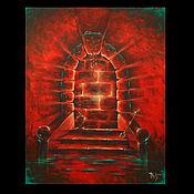 """Картины и панно ручной работы. Ярмарка Мастеров - ручная работа Коллекционная картина """"Двери, которых нет 268 : Ярость"""". Handmade."""