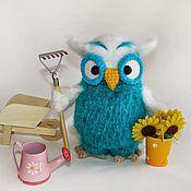 Куклы и игрушки ручной работы. Ярмарка Мастеров - ручная работа Сова Флоретта - вязаная игрушка. Handmade.
