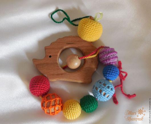 Развивающие игрушки ручной работы. Ярмарка Мастеров - ручная работа. Купить Ежик-грызунок (прорезыватель) с яблочком. Handmade. Слингобусы с игрушкой