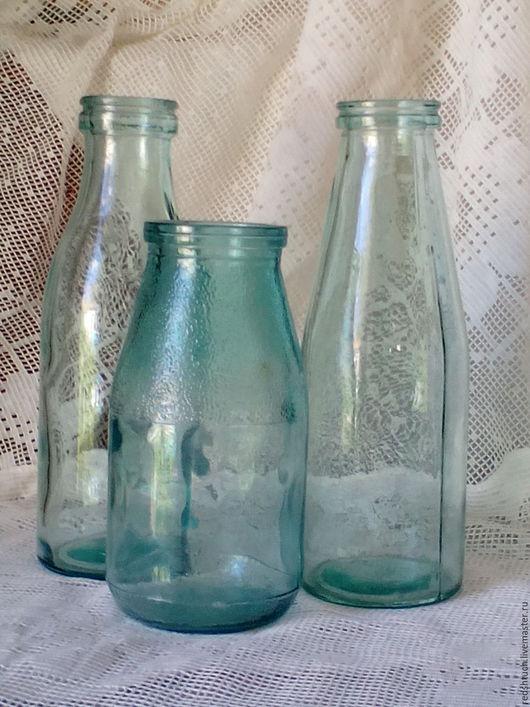 Винтажная посуда. Ярмарка Мастеров - ручная работа. Купить Советская молочная стеклотара.. Handmade. Комбинированный, ретро, молочная стеклотара