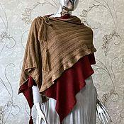 Одежда handmade. Livemaster - original item Copy of Copy of Striped poncho. Handmade.