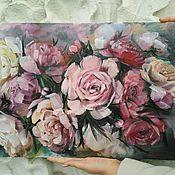 """Картины и панно handmade. Livemaster - original item Авторская картина маслом """"Пионы"""" в пастельных тонах. Handmade."""