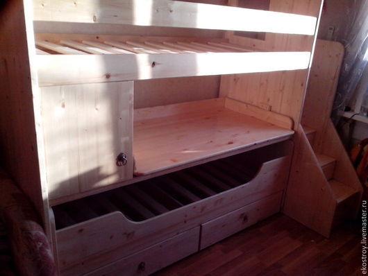 Мебель ручной работы. Ярмарка Мастеров - ручная работа. Купить Двухярусная кровать. Handmade. Разноцветный, Интересные вещи, механизм
