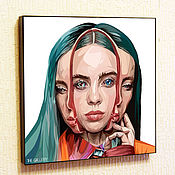 Картины и панно handmade. Livemaster - original item Picture Poster Billie Eilish Billie Eilish in the style of Pop Art. Handmade.