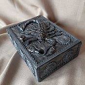 Для дома и интерьера handmade. Livemaster - original item Box: Grey Scorpion. Zodiac sign.. Handmade.