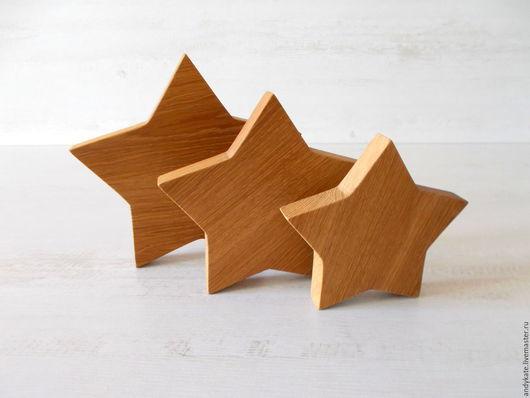 Деревянный декор Звезда интерьерная из дуба