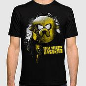"""Одежда ручной работы. Ярмарка Мастеров - ручная работа Футболка с принтом """"Adventure Time - Jake"""". Handmade."""