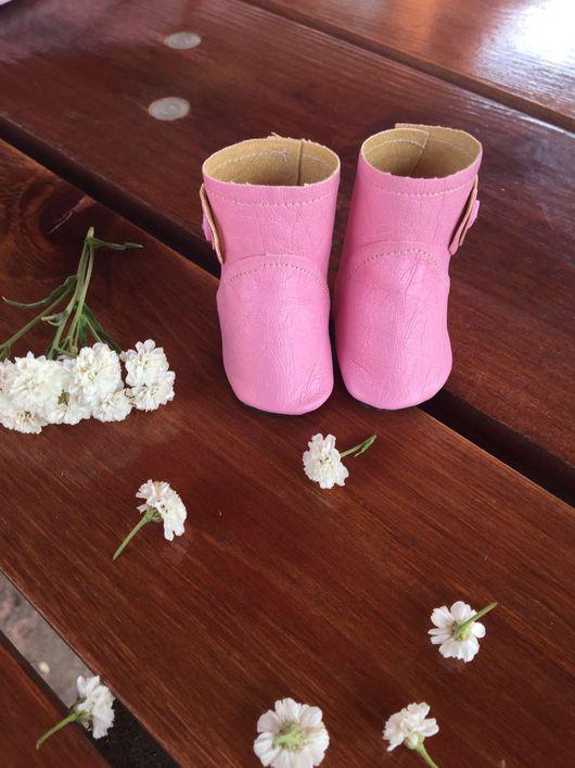 """Куклы и игрушки ручной работы. Ярмарка Мастеров - ручная работа. Купить Сапожки """" розовый фламинго """". Handmade. кожзам"""