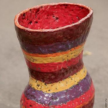 Для дома и интерьера ручной работы. Ярмарка Мастеров - ручная работа Большая полосатая ваза. Handmade.