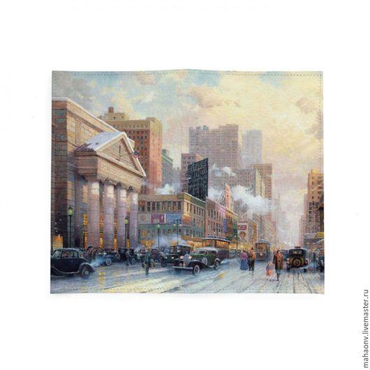 Кошельки и визитницы ручной работы. Ярмарка Мастеров - ручная работа. Купить Портмоне Нью-Йорк 60-е, Тревел, Travel. Handmade.