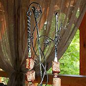 """Для дома и интерьера ручной работы. Ярмарка Мастеров - ручная работа Набор для подачи шашлыка """"Лоза"""", нержавеющая сталь. Handmade."""