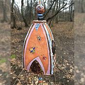 """Колокольчики ручной работы. Ярмарка Мастеров - ручная работа Колокольчик керамический """"Жучки проснулись"""". Handmade."""