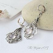 Украшения handmade. Livemaster - original item Silver earrings Francie pink quartz. Handmade.