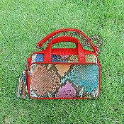 Сумки и аксессуары handmade. Livemaster - original item Margo Python leather handbag. Handmade.