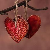 Подарки к праздникам ручной работы. Ярмарка Мастеров - ручная работа Сувенир керамический Любящее сердце. Handmade.