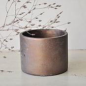 Цветы и флористика handmade. Livemaster - original item Concrete round planter style, Minimalism, Loft, for cacti. Handmade.