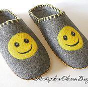 Slippers handmade. Livemaster - original item felt slippers
