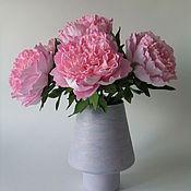 Цветы и флористика ручной работы. Ярмарка Мастеров - ручная работа Пионы в вазе. Handmade.