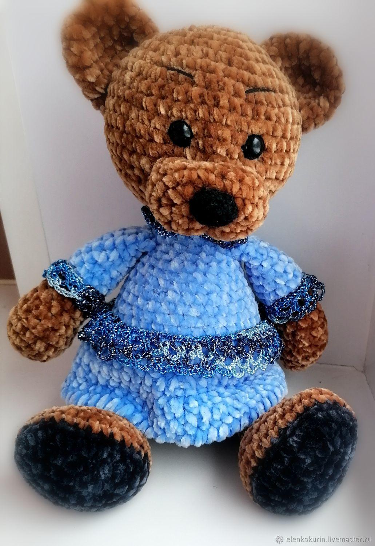 A knitted toy. Bear Blueberry. Plush. Amigurumi, Amigurumi dolls and toys, Nizhny Novgorod,  Фото №1
