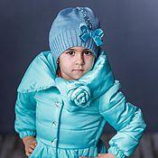 Работы для детей, ручной работы. Ярмарка Мастеров - ручная работа Весенняя курточка с цветком для девочки, бирюза. Handmade.