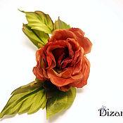 Цветы и флористика handmade. Livemaster - original item Brooch-barrette rose Romance. Silk flowers. FABRIC FLOWERS. Handmade.