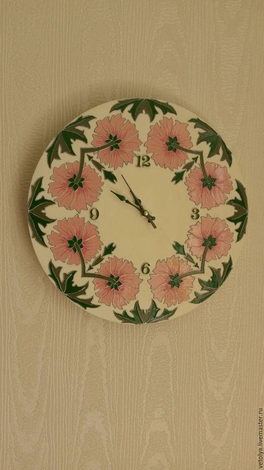 """Часы для дома ручной работы. Ярмарка Мастеров - ручная работа. Купить Часы """"Нежность"""". Handmade. Комбинированный, часы"""