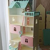 """Кукольные домики ручной работы. Ярмарка Мастеров - ручная работа Кукольный домик """"Виолетта"""" молочный коктейль. Handmade."""