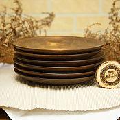 Посуда handmade. Livemaster - original item Set of Plates of Wood (6 PCs) 20.5 cm 100%#43. Handmade.