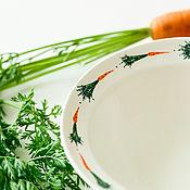 Посуда handmade. Livemaster - original item Friendly carrots ) Deep plate, handmade ceramics.. Handmade.