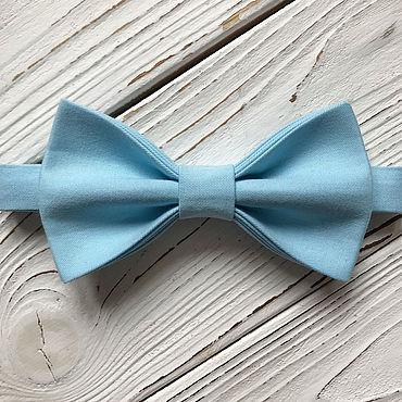 Аксессуары ручной работы. Ярмарка Мастеров - ручная работа Галстук-бабочка голубой. Handmade.