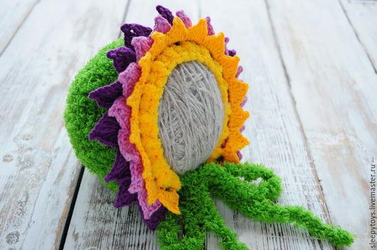 Для новорожденных, ручной работы. Ярмарка Мастеров - ручная работа. Купить Цветочек вязаная шапочка для фотосессии новорожденной. Handmade.