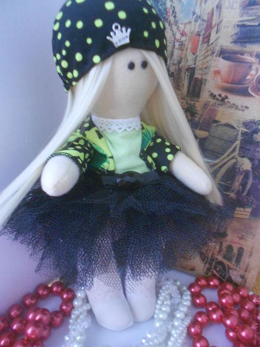 Куклы тыквоголовки ручной работы. Ярмарка Мастеров - ручная работа. Купить Кукла Камила. Handmade. Черный, тильда, большеножка, бусины