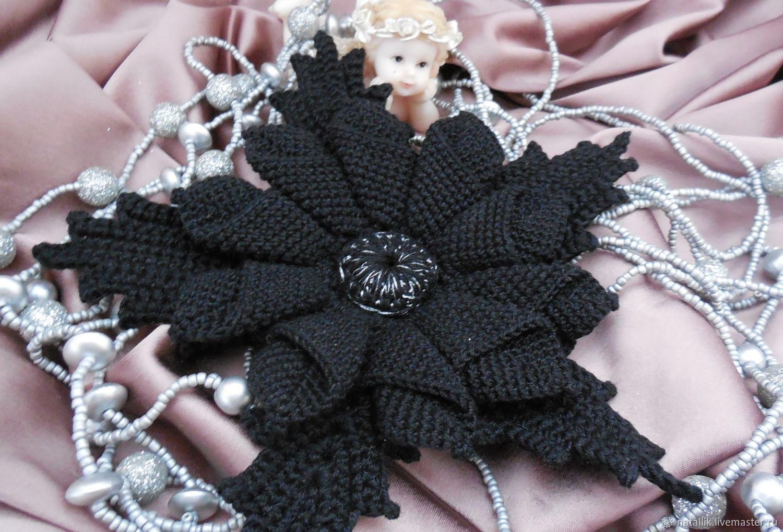 Brooch flower black lily shop online on livemaster with shipping brooch flower black lily izmirmasajfo